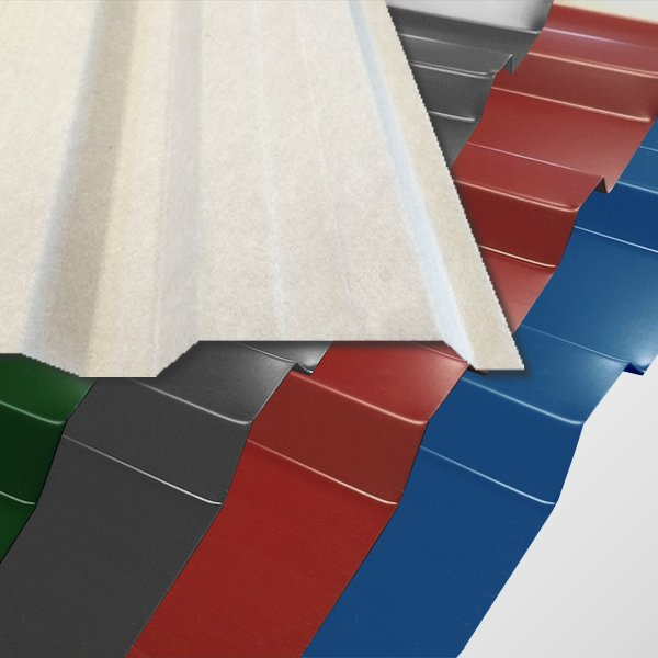 trapezblech t 18 1128 0 70mm in vielen farben mit vlies. Black Bedroom Furniture Sets. Home Design Ideas