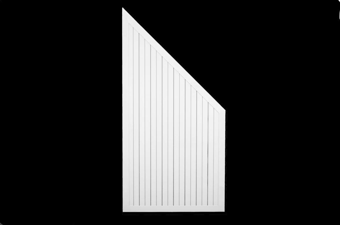 Sichtschutzzaun Serie ALULINE weiß pulverbeschichtet