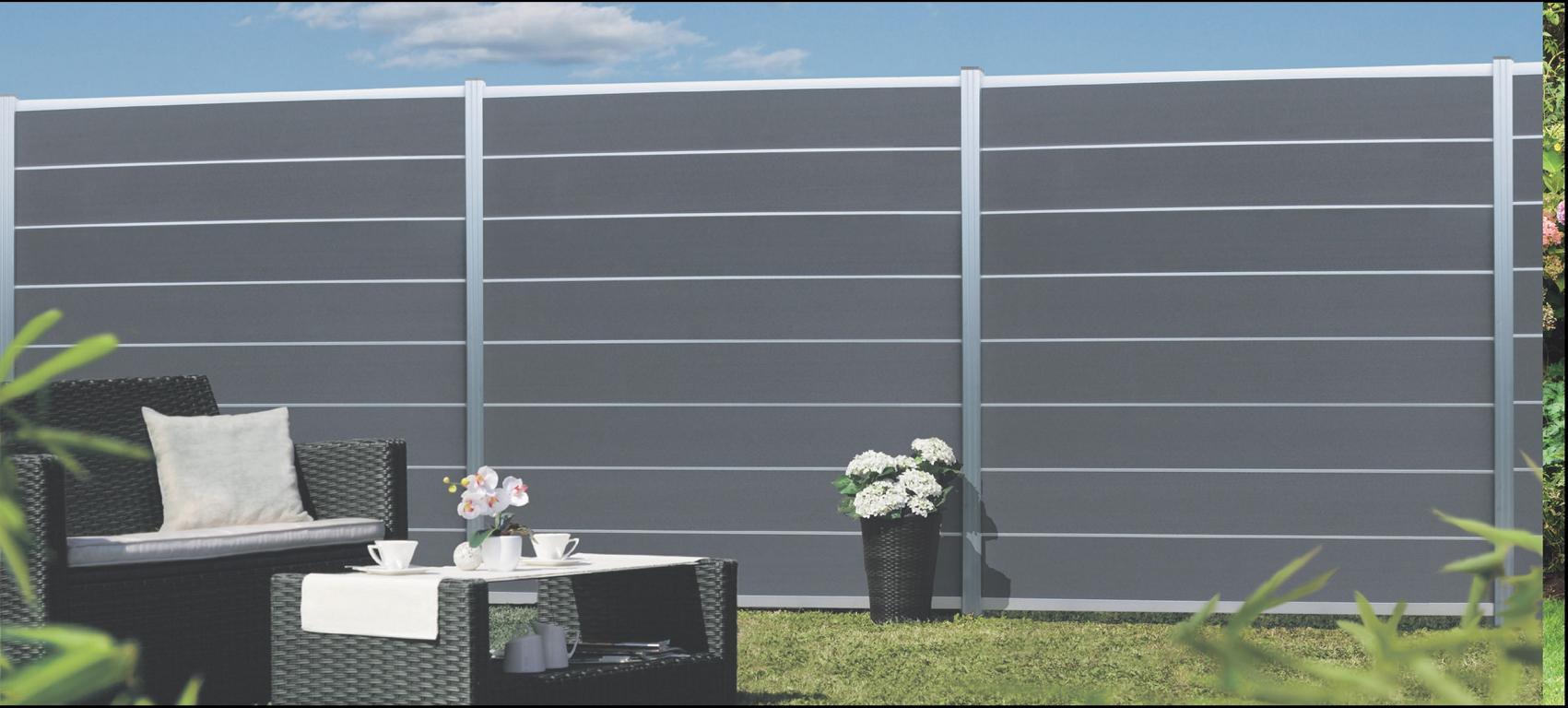 Sichtschutzzaun WPC Serie NORDERNEY Stecksystem