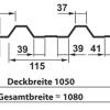 Querschnitt Zeichnung Trapezblech T-35DR
