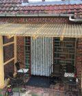 Vorbau Lichtplatte 76_18 Acryl bronze Wabenstruktur 2
