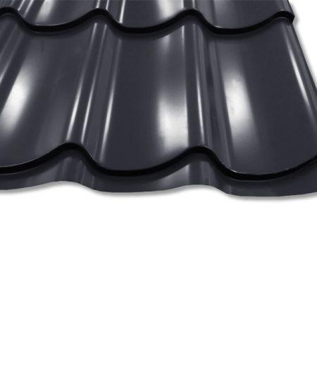 Pfannenblech Szafir 350/25 - 25 ym Polyester-Beschichtung - RAL7016 Anthrazit