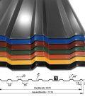 T-18M/1070 alle Farben 25µm Polyesterbeschichtung mit Querschnitt