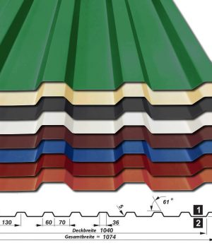 Trapezblech T-20-1040 - 25 mµ Polyester - alle Farben