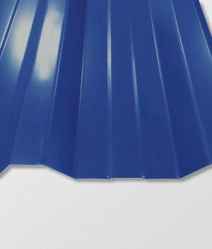Trapezblech T-35DR/1050 - 0,50 mm - 25 µm Polyester Beschichtung - RAL5010 Enzianblau