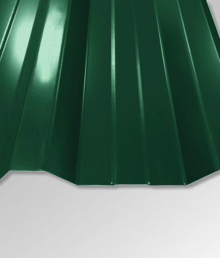Trapezblech T-35DR/1050 - 0,50 mm - 25 µm Polyester Beschichtung - RAL6005 Moosgrün