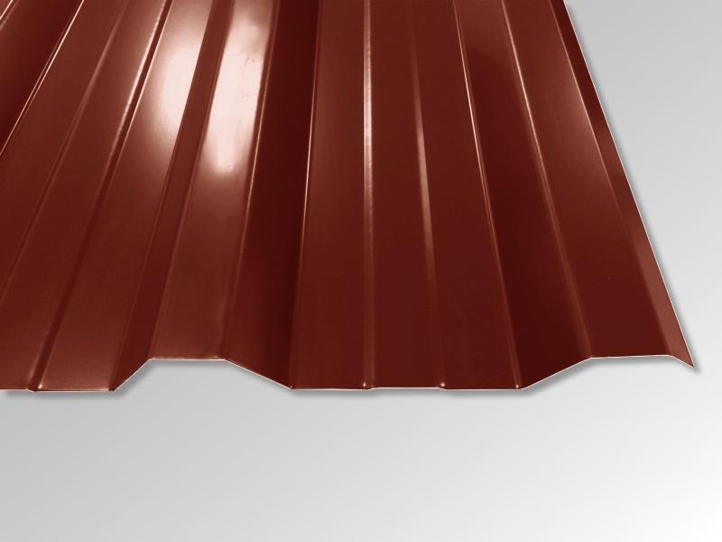 Trapezblech T-35DR/1050 - 0,50 mm - 25 µm Polyester Beschichtung - RAL8012 Rotbraun