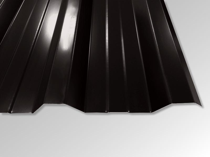 Trapezblech T-35DR/1050 - 0,50 mm - 25 µm Polyester Beschichtung - RAL9005 Tiefschwarz