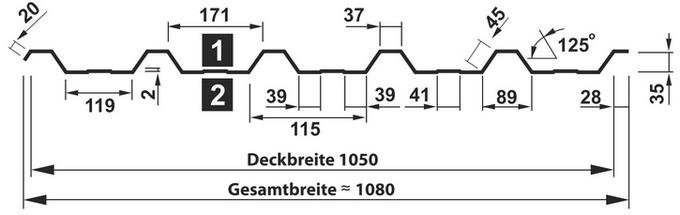 Querschnitt T-38DR/1050