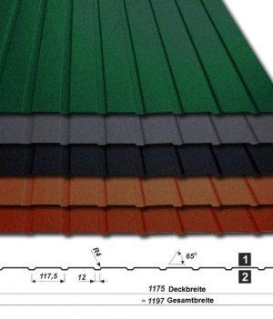 Trapezblech T-7W/1175 - 50 µm PURMAT - alle Farben