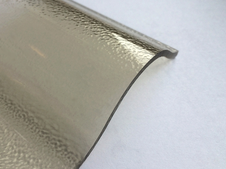 Lichtplatte Acryl 76/18 - HIGHLUX - bronze - 3 mm - C-Struktur