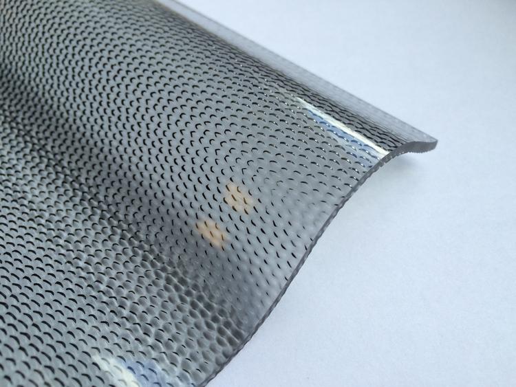 Lichtplatte Acryl 76/18 - HIGHLUX - graphit - 3 mm - Perlenstruktur - 3