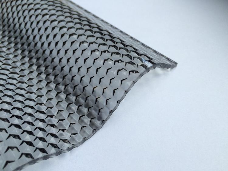 Lichtplatte Acryl 76/18 - HIGHLUX - graphit - 3 mm - Wabenstruktur - 2