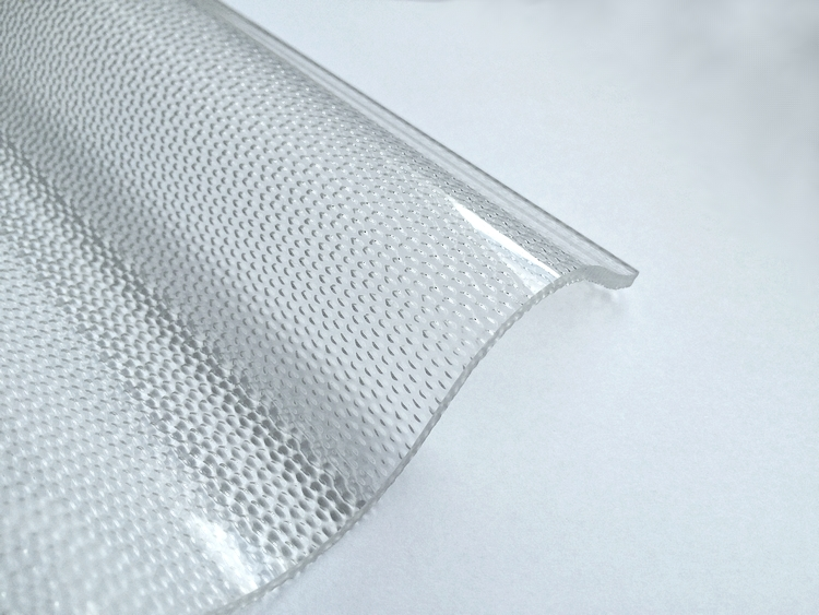 Lichtplatte Acryl 76/18 - HIGHLUX - klar - 3 mm - Perlenstruktur 1