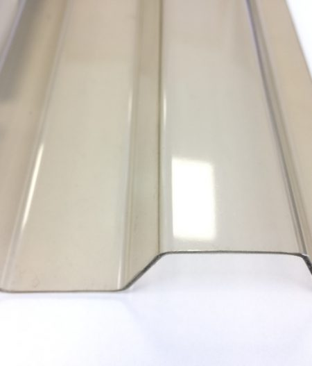 Lichtplatte PVC 70/18 Spundwand Bronze
