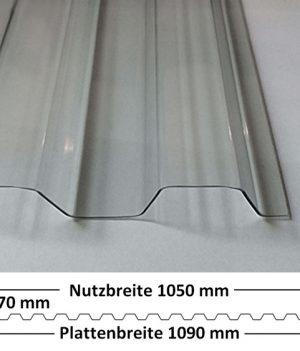 Lichtplatte PVC Ondex Sollux 70/18 Trapez klar mit Querschnitt