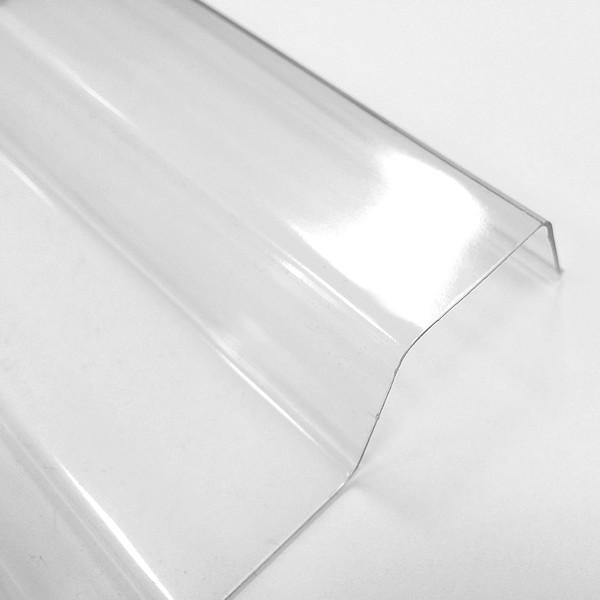Lichtplatten PVC 70/18 Spundwand - glasklar