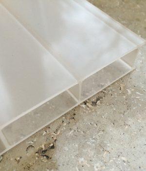 Stegdoppelplatte Acryl 16 anti-drop Opal-Weiß