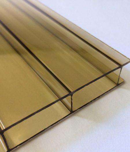 Stegdoppelplatte Acryl 16 anti-drop bronze