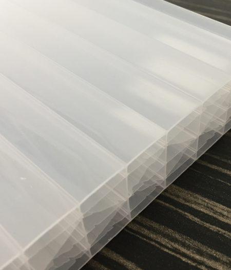 Stegdoppelplatte Polycarbonat 25 sun stop Opal-Weiß