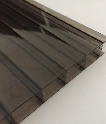 Stegdreifachplatte Polycarbonat 16 mm longlife bronze