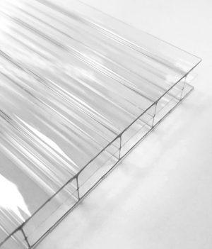 Stegdreifachplatte Polycarbonat 16 mm longlife klar