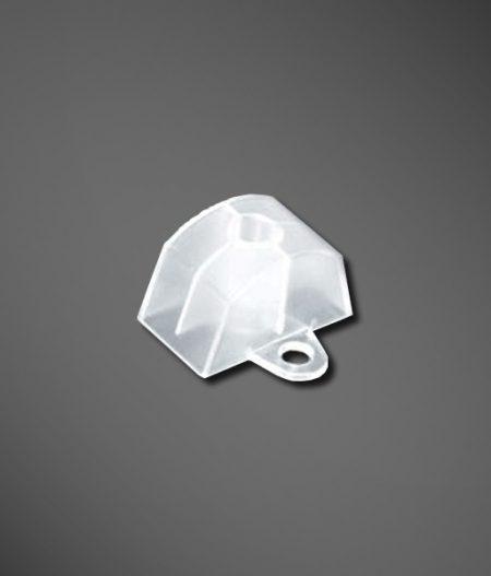 Abstandhalter Sinus 130/30 klar mit seitlicher Lasche einzelbild