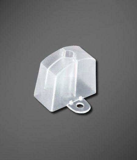 Abstandhalter Sinus 177/51 klar mit seitlicher Lasche Einzelbild