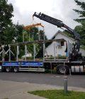 Trapezblech Trapezbleche Anlieferung mit Kran LKW - 02