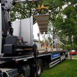 Trapezblech Trapezbleche Anlieferung mit Kran LKW - 04