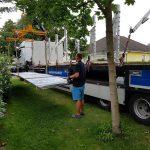 Trapezblech Trapezbleche Anlieferung mit Kran LKW - 08