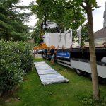 Trapezblech Trapezbleche Anlieferung mit Kran LKW - 09