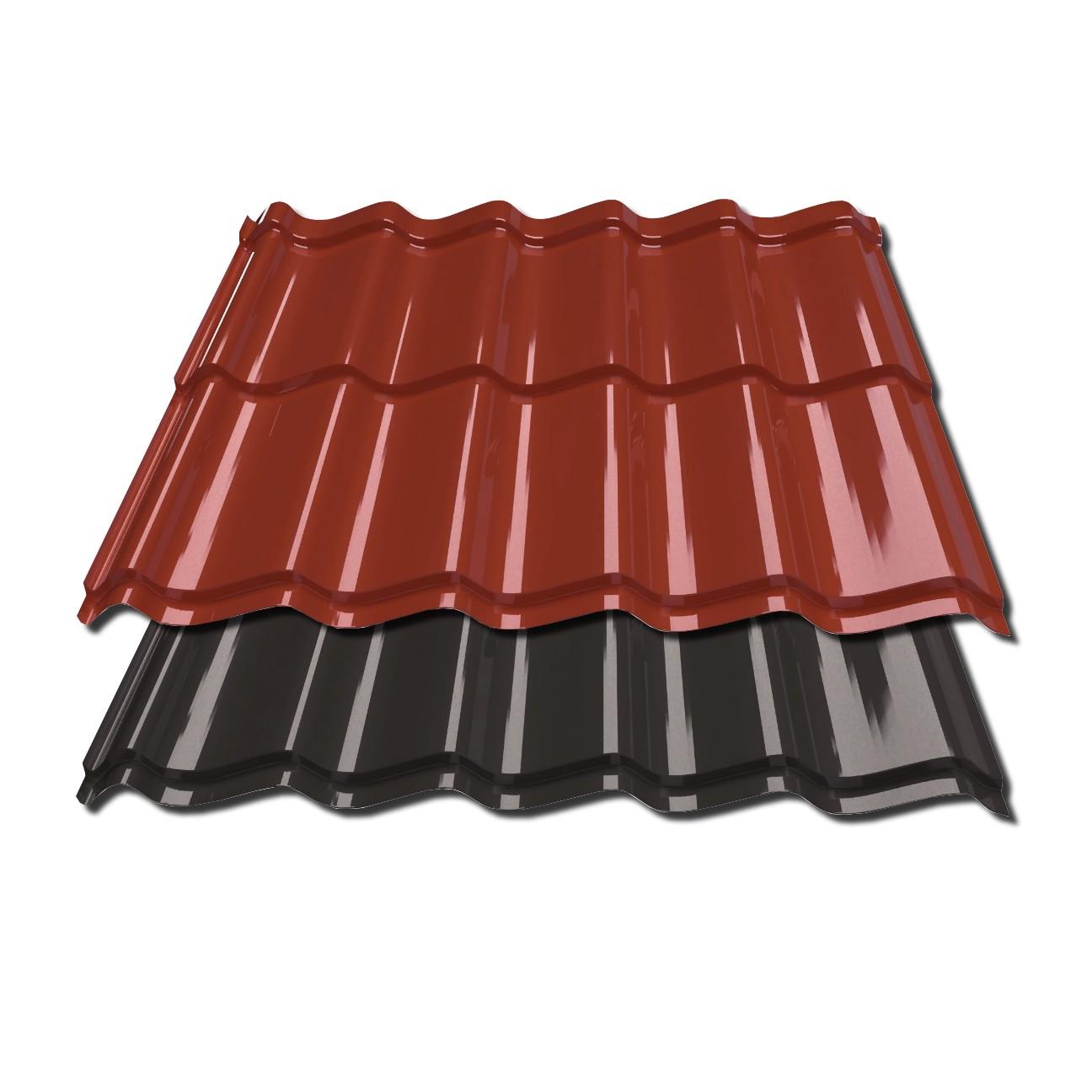 Flachblech St/ärke 0,50 mm Kantblech Material Stahl Beschichtung 25 /µm Dachblech Farbe Enzianblau